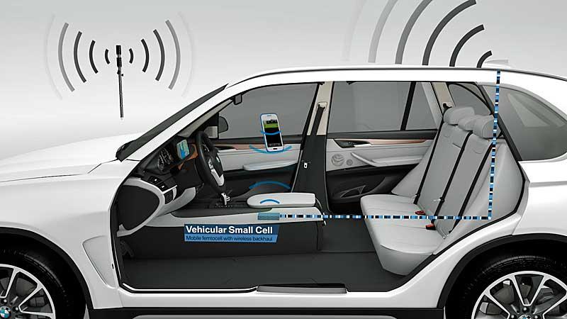 A BMW a 2015-ös barcelonai Mobil Világkongresszuson mutatta be a Vehicular Small Cell projektet