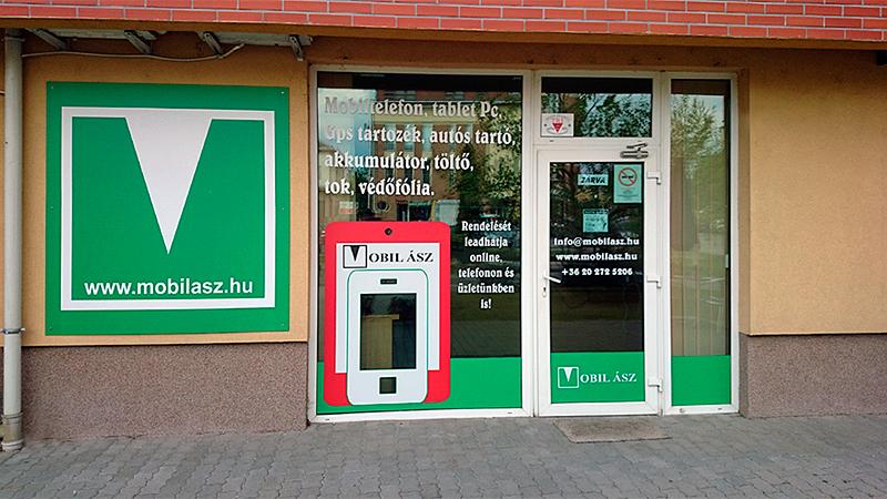Alcatel mobiltelefon webáruház üzlet bejárat