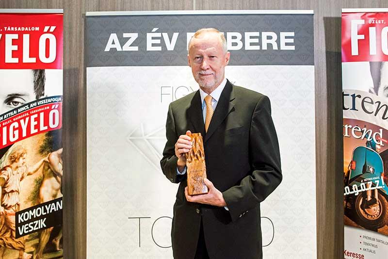 A Figyelő Év Embere díjat Bogsch Erik, a Richter vezérigazgatója kapta