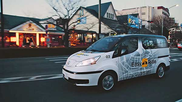 A Nissan és a DeNA megkezdi az Easy Ride robotizált jármű mobilitási szolgáltatás tesztüzemét