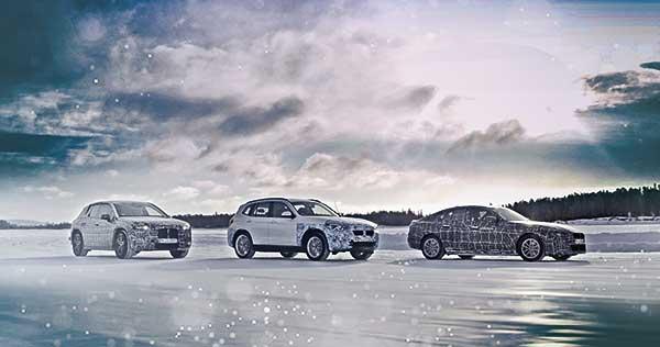 Elektromos meghajtás extrém hidegben: átfogó teszten a BMW iX3, a BMW i4 és a BMW iNEXT