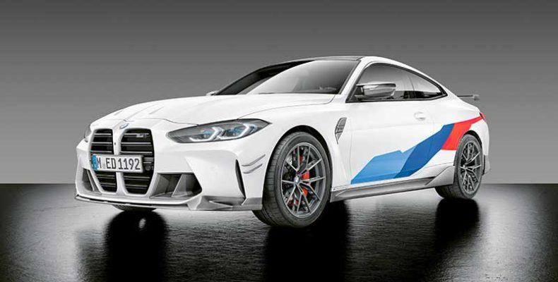 BMW M Performance alkatrészek átfogó palettája is rendelhető már a most bemutatott BMW M3 és M4 Coupé pároshoz
